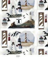 Lighthouse Fleece Fabric 481 $6.99/yard