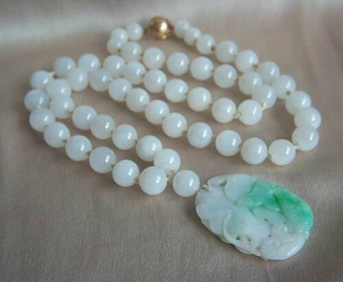 ONE OF A KIND - GUMPS GUMP'S 14K Antique Jade Pend