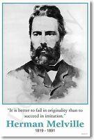 Herman Melville - Author Writer American - Originality - Poster