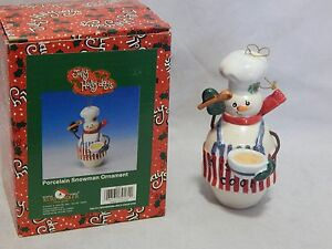 Kurt-Adler-Christmas-Porcelain-Snowman-Ornament