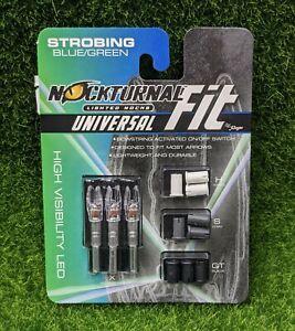 Nockturnal Lighted Arrow Nocks, FIT, Blue/Green High Viz LED, 3-Pack - NT-320