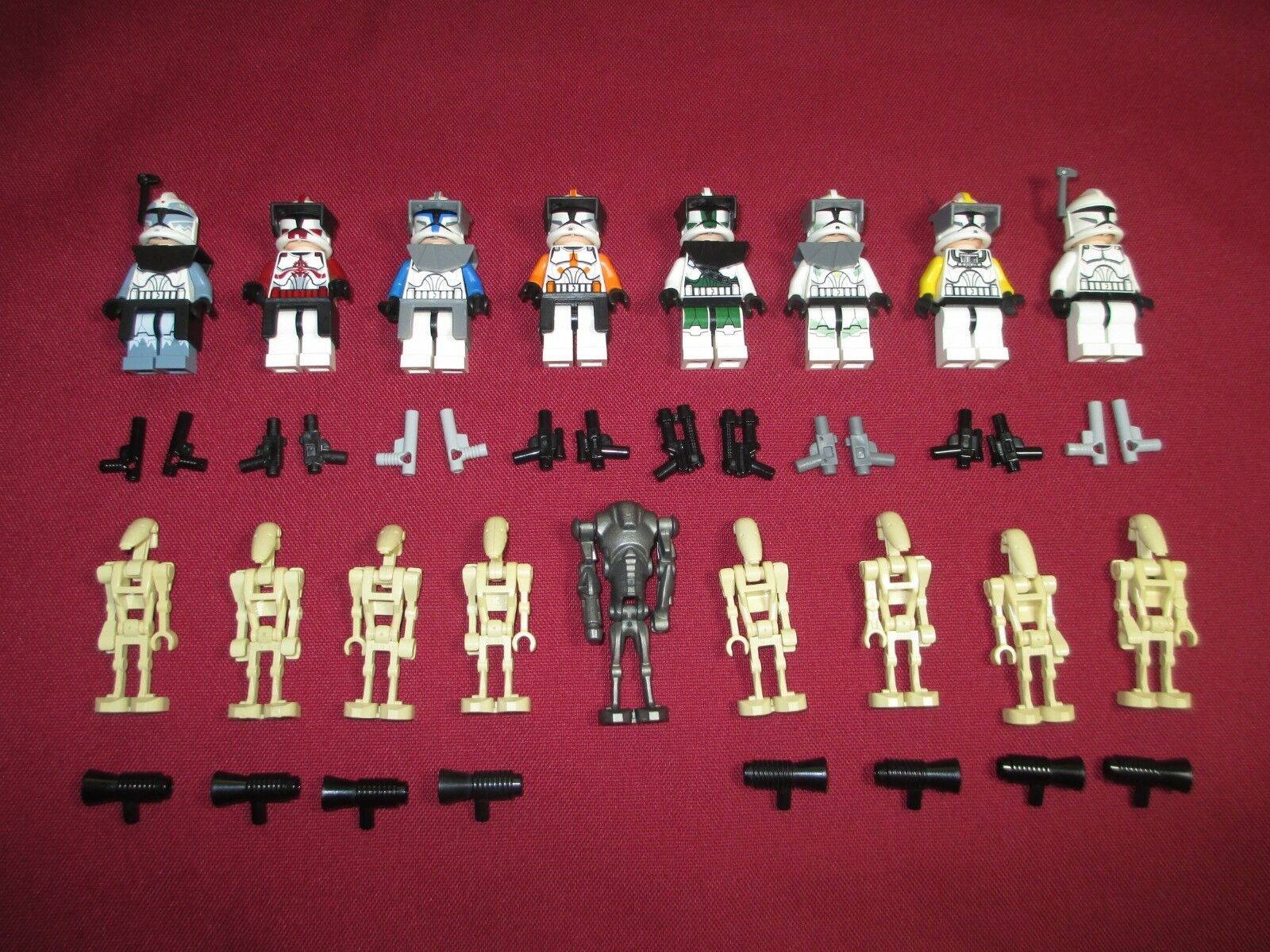 LEGO Star Wars Minifigures LOT. Comm , Wolfe , Rex, Fox , Gree , Cody , Horn ,