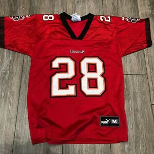 sports shoes b5f4e e9a19 Details about VINTAGE PUMA WARRICK DUNN #28 TAMPA BAY BUCCANEERS YOUTH  JERSEY