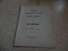 1902.Pièces de différents genres pour orgue ou harmonium.partition.Maillochaud
