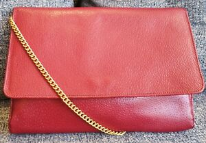 Image is loading Mulberry-Clutch-Crossbody-Bag-in-Red-Leather 08ed639fcb