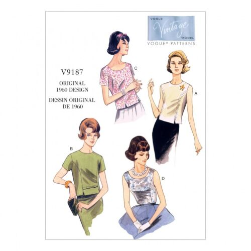 Vogue Ladies Easy Sewing Pattern 9187 Jewel /& Scoop Neck Princess Seam T...