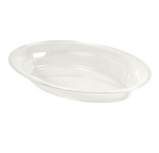 25ct. 11 x16  128oz  Oval Plastic Serving Platter Bowls  3511D H-Duty Reuseable