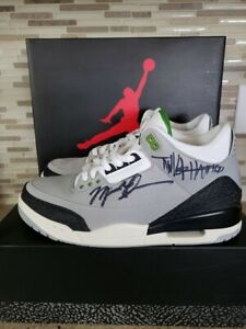 Details about Michael Jordan Tinker Hatfield Signed Air Jordan 3 Retro Shoes Autograph JSA COA