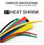 thumbnail 2 - 16 Feet Heat Shrink Wire Wrap Assortment Set 1mm - 10mm 2:1 Multi Color Tubing