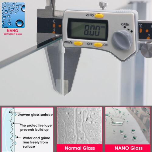 1100mm Single Sliding Shower Enclosure door Cubicle 8mm Self Clean Glass screen