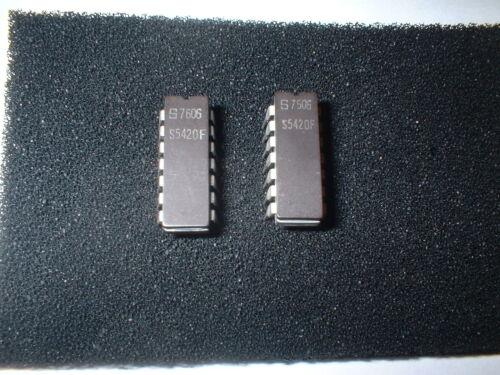 2PCS S5420F Logic Circuit Dual 4-Input NAND STD-TTL 14 Pin Ceramic DIP IC BOX#11