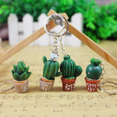 Succulent Plant Cactus Cute New Key Ring Handbag Pendant Key Holder Key Chain