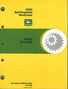 Details about JOHN DEERE 2360 SELF-PROPELLED WINDROWER PARTS MANUAL jd