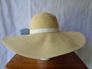 dd2cf07a Calvin Klein Women's Beige Straw Floppy Sun Hat Tassels OS ...