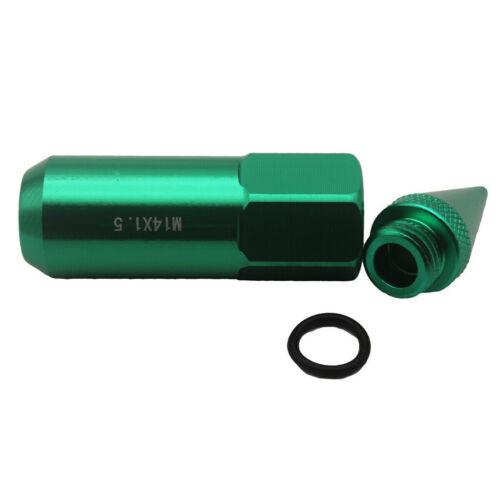 20er Pack Lug Nuts Radmuttern Stahl M12x1,5GrünUniversalmit Schlüssel