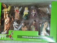Porcelain 11 Piece Nativity Scene