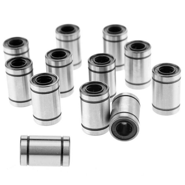 10PCS Hot LM8UU 0.8cm 8mm Linear Motion Ball Bearing Bushing Bush KK