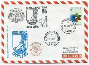 Prix Bas Avec 1982 Ballonpost N. 67 Pro Juventute Aerostato Oe-azr Sumsi Gfohl St. Leonhard Volume Large