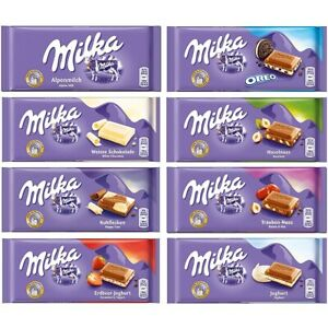 Details About Milka Chocolate Full Box All Flavours Oreo Daim Tuc Brownie White