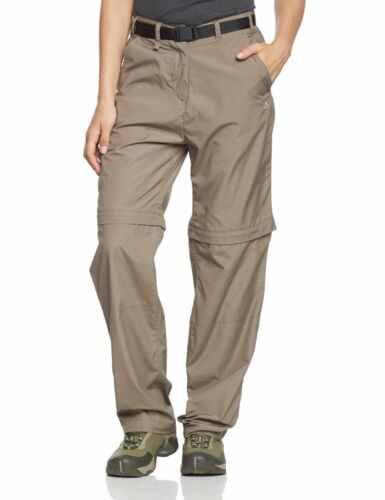 CRAGHOPPERS Womens Dark Sand Kiwi Convertible Trousers Shorts UK 14 BNWT