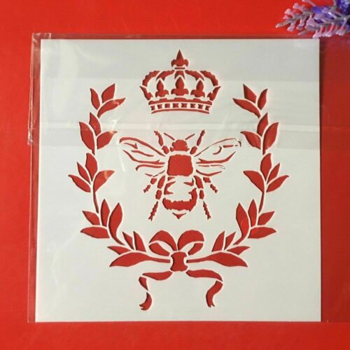 Bee Crown DIY Layering Stencils Wall Painting Scrapbook Embossing Card Template