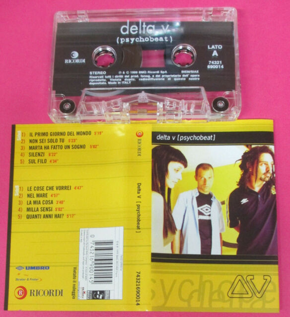 MC DELTA V Psychobeat 1999 italy RICORDI BMG 74321690014 no cd lp vhs