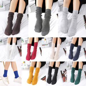 Women-Cotton-Socks-Stocking-Cute-Students-School-Casual-Long-Sock-Korean-Style