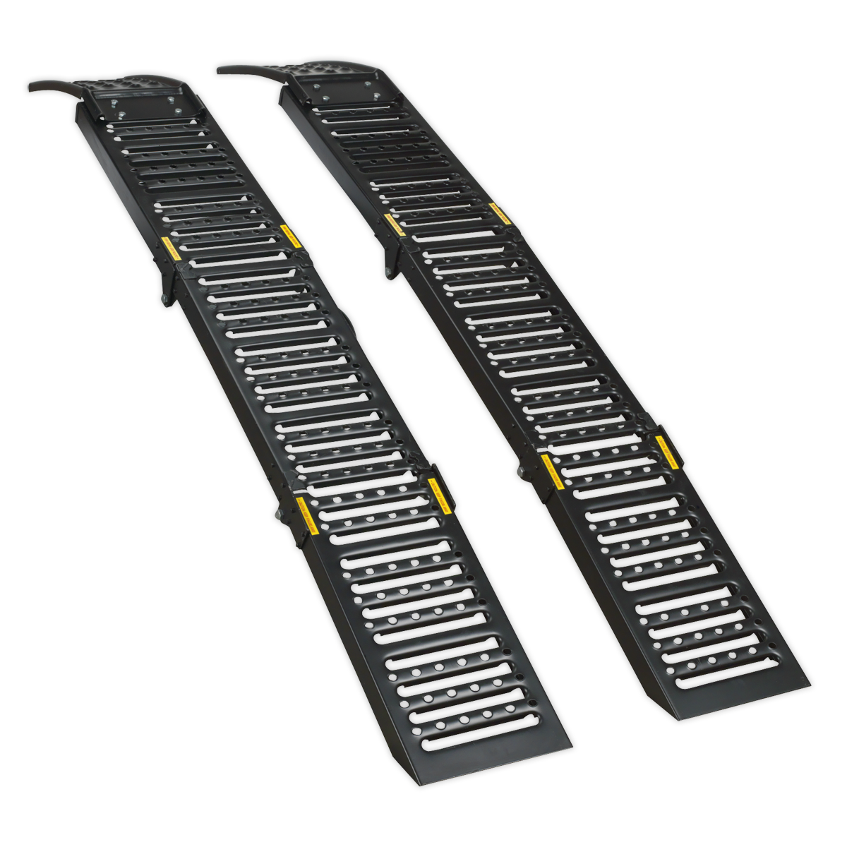 Steel Folding Loading Ramps 500kg Capacity per Pair   SEALEY FCR500 by Sealey