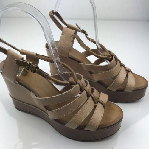 Slingback Boucle Sandales Talons Marron Compensées Femmes Chaussures zMUSVp