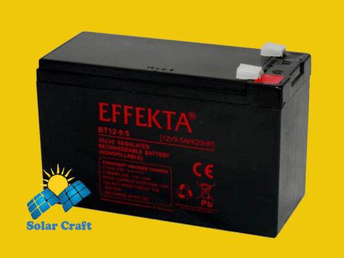 EFFEKTA Pile Batterie elektromoteur Chargeur Module solair PV 9.5Ah 12V Onduleur