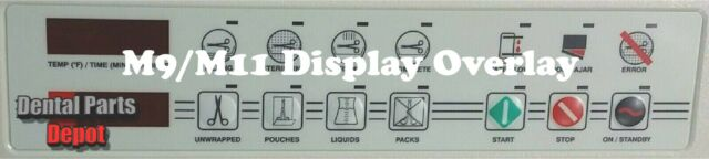 Midmark M9 & M11 Replacement Display Overlay Sticker (Red Display) RPI#MIP098