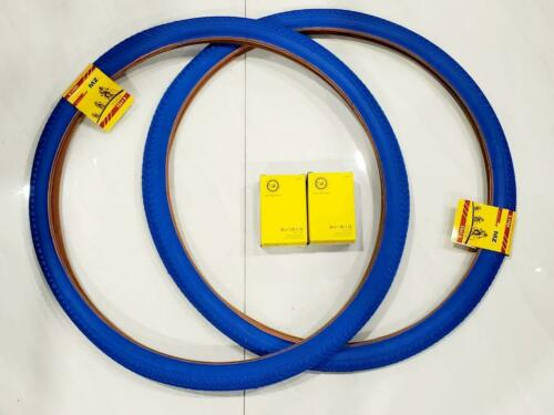 TWO HIGH QUALITY BLUE  OFF-ROAD TIRES  AND 2 INNER TUBES 40-559 26X1.50 TIRES
