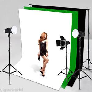 Studio White Screen Chromakey Backdrop 1.6 x 3 m Muslin Video Photo Background