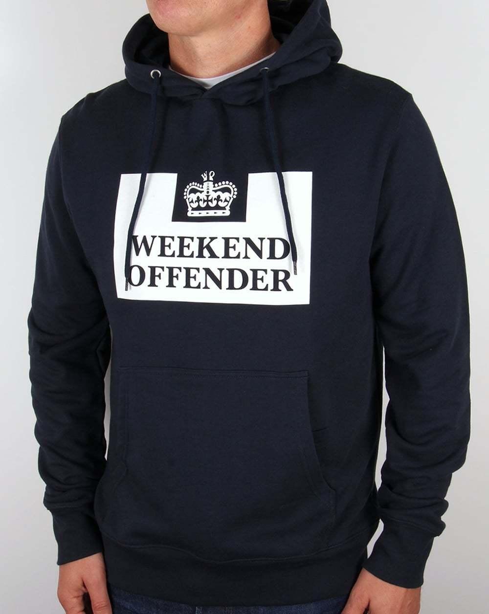 Weekend Offender-Hm Servizio Felpa Con Cappuccio Classico in Blu Navy