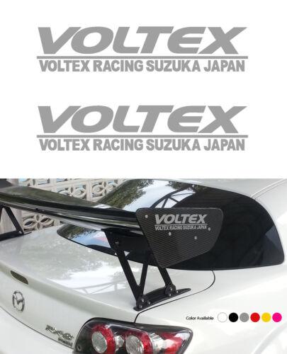 2Pcs Voltex GT Wing Autocollant Vinyle pour EVO X SUBARU FT86 350Z 370Z S2000 NSX GTR