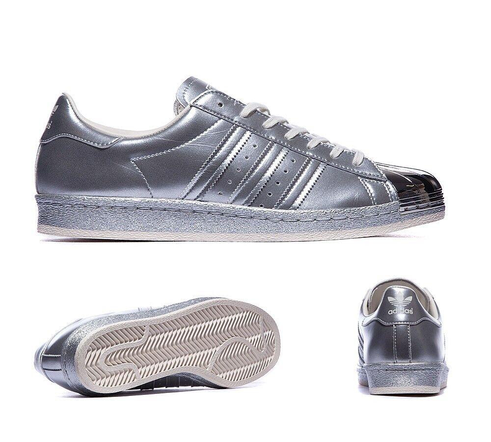 Adidas Originales Superstar 80S Plateado Metálico Tallas UK edición limitada de 4 5 6