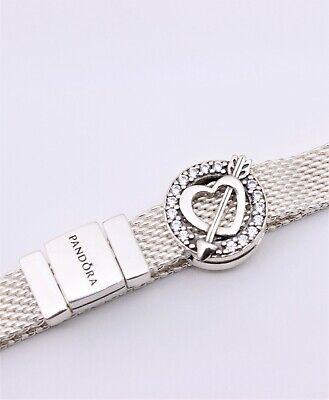 New Authentic PANDORA Reflexions™ Asymmetrical Heart & Arrow Clip Charm  797793CZ | eBay