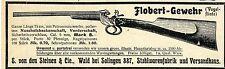 E.v.Steinen & Cie. Solingen FLOBERT-GEWEHR Historische Reklame von 1903