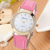 NEW DESIGNER WRIST WATCH FASHION STYLE WOMEN LADIES GOLD GIFT CRYSTAL BRACELET