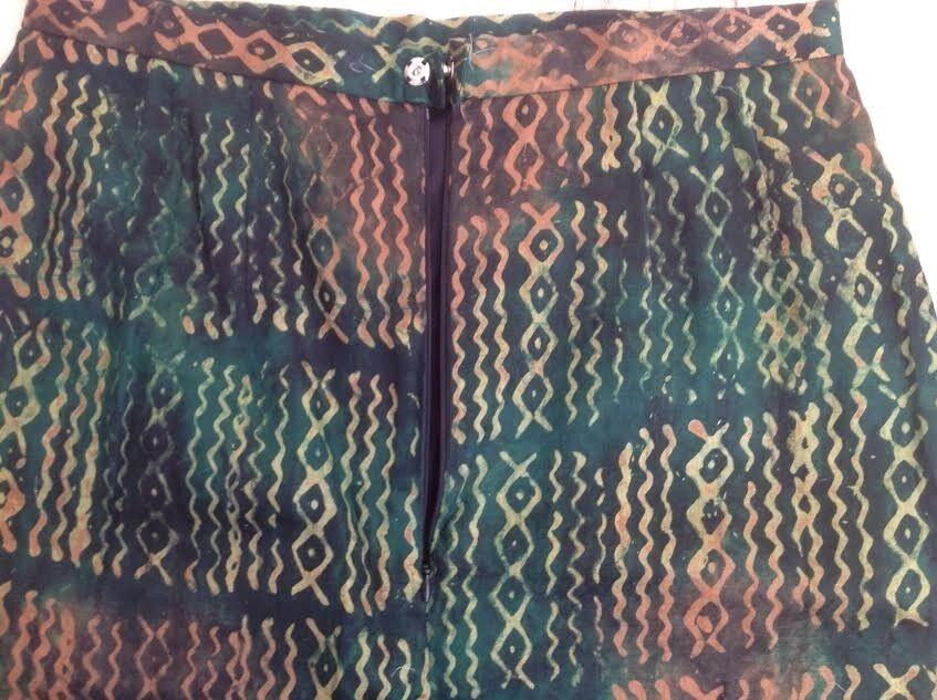 silkenederdel , str. 40, Skrædersyet