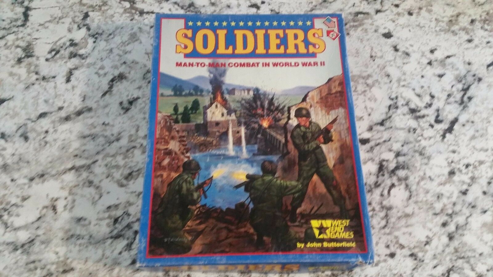 West End Wargame Soldiers Box unpunched