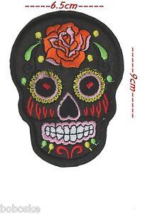 Fringant Tête De Mort Mexicaine(x) à Coudre Ou à Coller Au Fer