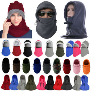 Men Womens Winter Fleece Balaclava Hats Warm Snow Ski Neck Face Mask ... 1a2757308