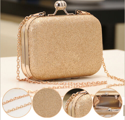 Elegant-Ladies-Women-Clutch-Box-Evening-Party-Glitter-Chain-Hand-Bags-Wallet