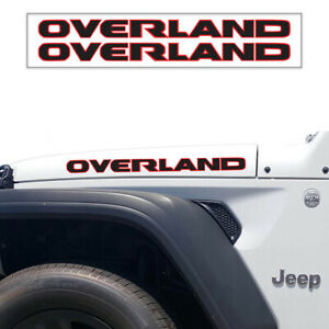 OVERLAND 2-colors Hood Decal Vinyl Graphic JEEP WRANGLER ...