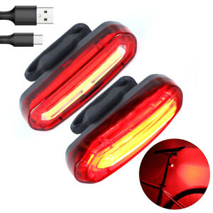 USB Rechargeable LED Bike Bicycle Cycling Front Rear Tail Light LED Lamp 4 Modes