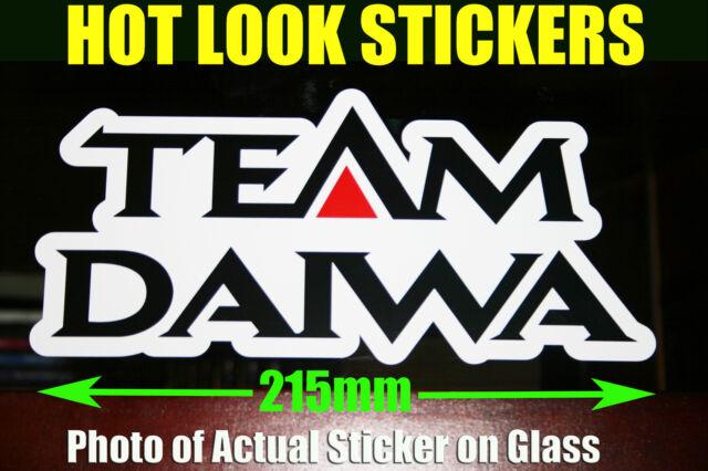 2 X  Daiwa Fishing Boat Reel Rod Sticker Vinyl Decal Set for dinghy tackle Box