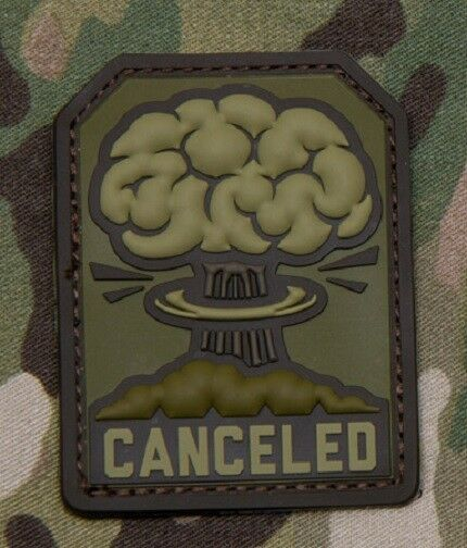 CANCELED 3D RUBBER PVC TACTICAL FALLOUT MULTICAM VELCRO® BRAND FASTENER PATCH