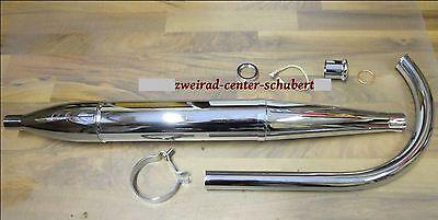 Auspuffanlage MZ RT 125/2 125/3 Zigarrenform mit Befestigungsmaterialien * NEU *