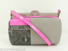 NWT $765 Meredith Wendell Genuine Python Neon Pink Patchwork Leather Box Bag